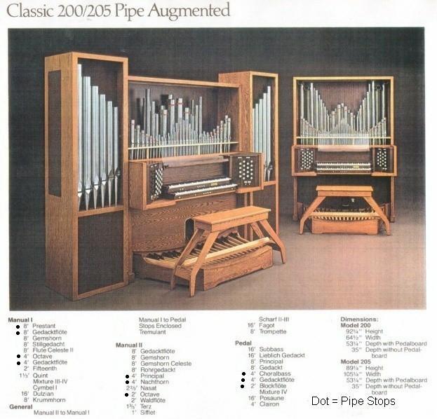 Vintage hammond church organs rodgers 205 custom pipe for Classic house organ sound